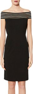 Read more about Gina bacconi shoulder drape dress black