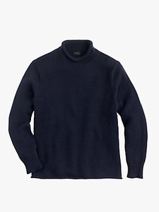 Read more about J crew cotton solid roll neck jumper navy