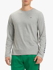 Read more about Tommy hilfiger long sleeve logo t-shirt cloud heather