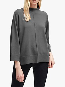 Read more about French connection ebba vhari high neck rib trim jumper charcoal grey melange