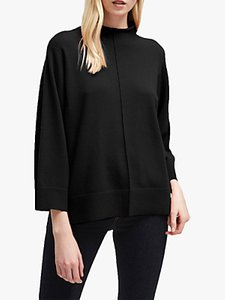 Read more about French connection ebba vhari high neck rib trim jumper black