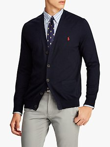 Read more about Polo ralph lauren slim fit cardigan hunter navy