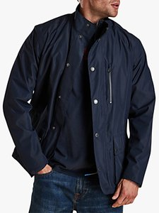 Read more about Barbour urma waterproof jacket navy