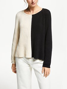 Read more about Weekend maxmara colour block jumper white black