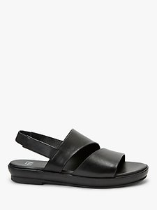 Read more about Kin leone flat sandals black leather