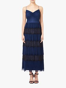 Read more about Adrianna papell crinkle lace tiered dress midnight blue