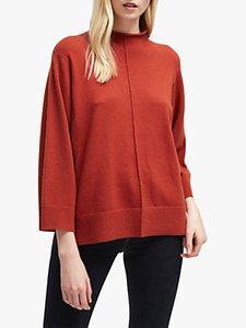 Read more about French connection ebba vhari high neck rib trim jumper firewood