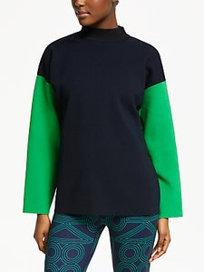 Read more about Patternity john lewis colour block jumper black navy green