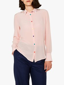 Read more about Ps paul smith multi colour button silk shirt pink
