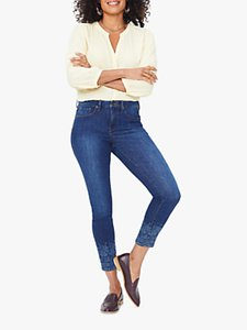 Read more about Nydj ami floral hem skinny ankle jeans cooper