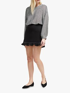 Read more about French connection pauline frill hem mini skirt black