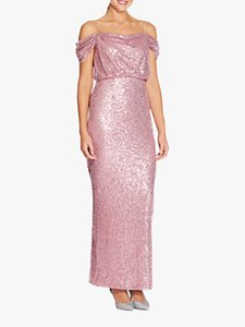 Read more about Adrianna papell sequin long dress rose