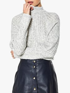 Read more about Selected femme kuma cable high neck jumper snow white
