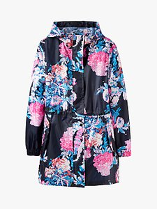 Read more about Joules golightly pack-away cottage floral print waterproof parka coat navy