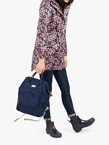 Read more about Joules golightly pack-away waterproof ditsy print parka coat navy