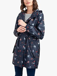 Read more about Joules golightly pack-away dog print waterproof parka coat navy