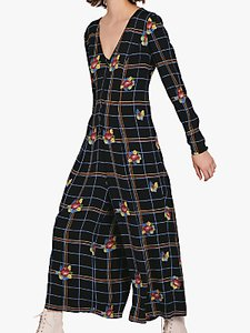 Read more about Ghost bay check and floral culotte jumpsuit black