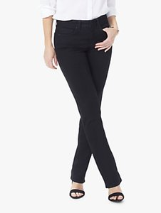 Read more about Nydj marilyn straight jeans black