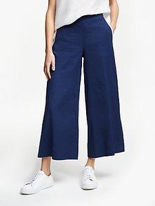 Read more about Marella linen-cotton blend side trim trousers cornflower blue