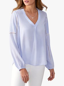 Read more about Pure collection lace trim blouse lilac