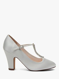Read more about Rainbow club frankie t-bar block heel court shoes ivory