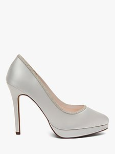 Read more about Rainbow club tallulah stiletto heel platform court shoes ivory