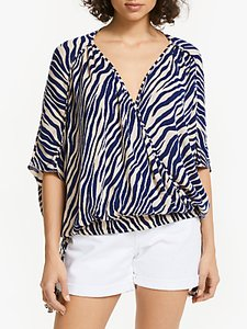 Read more about And or zebra print wrap over top navy