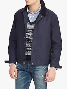 Read more about Polo ralph lauren corduroy collar twill jacket aviator navy