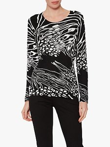 Read more about Gina bacconi birdie animal print jumper black