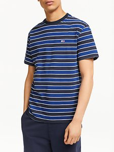 Read more about Tommy jeans bold stripe short sleeve t-shirt limoges multi