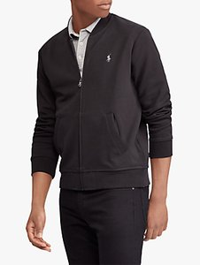 Read more about Polo ralph lauren double-knit bomber jacket black