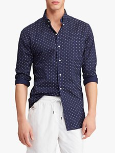 Read more about Polo ralph lauren slim fit mini anchor dot print shirt navy