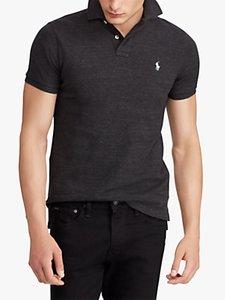 Read more about Polo ralph lauren custom slim fit mesh polo shirt black marl heather