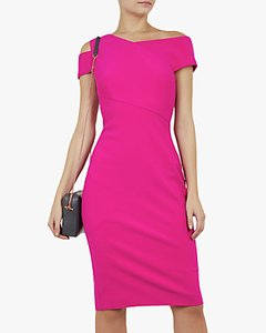 Read more about Ted baker aivilo bodycon shoulder dress hot pink