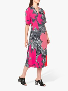 Read more about Ps paul smith large floral print tie back midi dress pink multi