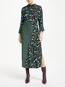 Read more about Finery mia floral side slit midi dress green multi