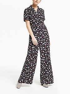 Read more about Finery alida wide leg jumpsuit black floral fan