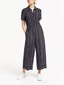 Read more about Finery alida wide leg stripe jumpsuit black lilac