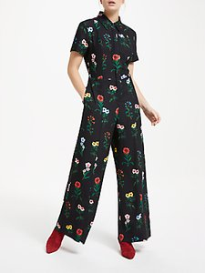 Read more about Finery alida floral print wide leg jumpsuit botanical pansy