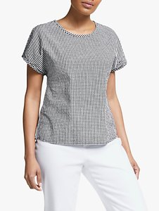 Read more about Collection weekend by john lewis button back gingham check top black white