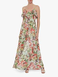Read more about Gina bacconi narelle floral chiffon maxi dress multi