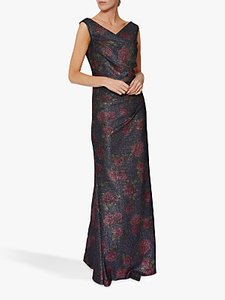 Read more about Gina bacconi calista floral maxi dress navy pink