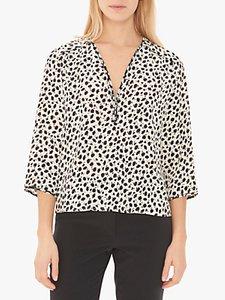 Read more about Gerard darel elise floral print zip blouse ecru black