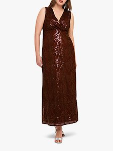 Read more about Studio 8 hope sequin maxi dress berry