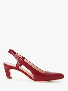 Read more about Modern rarity cecile leather sling back court shoes red