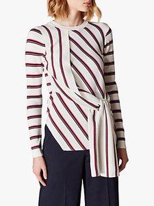 Read more about Karen millen striped wrap jumper multi