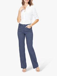 Read more about Nydj stripe linen blend trousers agua stripe