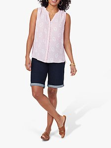 Read more about Nydj sleeveless rose pintuck blouse desert rose