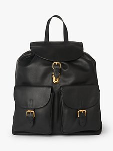 Read more about L k bennett james leather backpack black