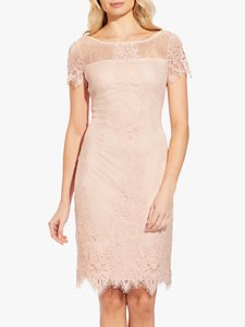 Read more about Adrianna papell lace overlay shift dress blush